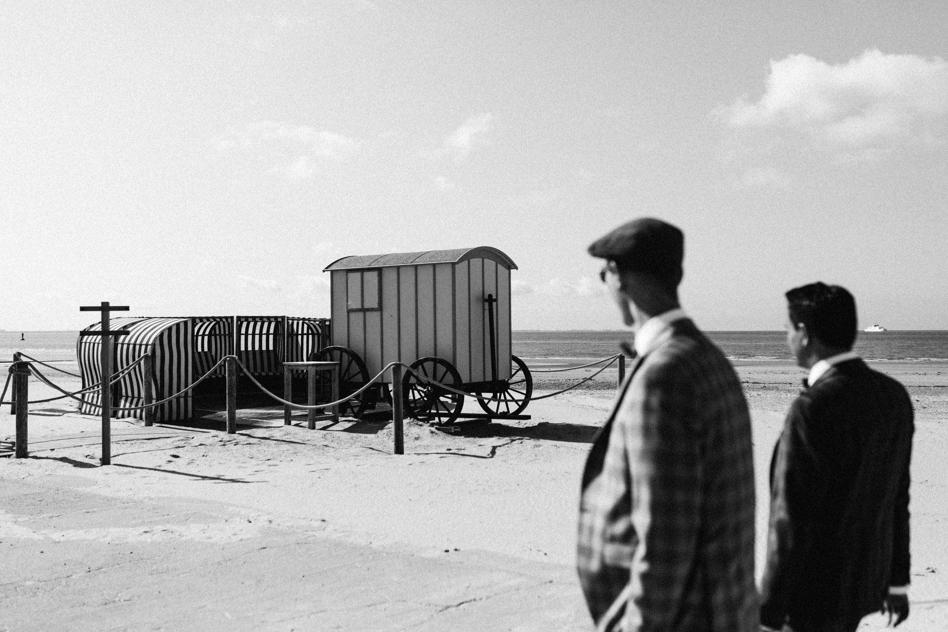 Standesamt am Strand. Badekarre Norderney.